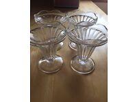 Icecream sundae glasses
