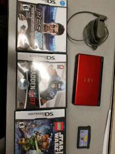Nintendo ds and 4 games