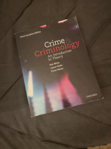 Textbook: Crime and Criminology