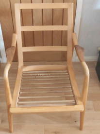 Mid Century Ercol Style Wooden Chair Frame