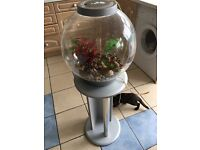 40litre orb fish tank with stand