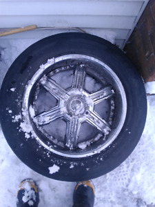 4 five star rims and 6 tires