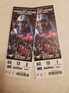 Alouettes vs. Stampeders Oct 30 - 45 YARD LINE -RABAIS 60% OFF!
