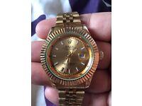 Rolex all gold coloured Quartz date-just