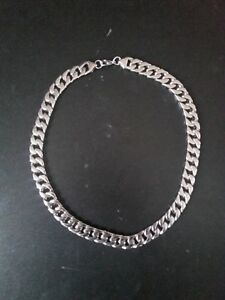 Men's 24 inch surgical steel cuban link necklace
