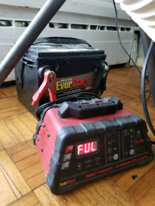 12 VOLT CAR BATTERY AND SMART CHARGER