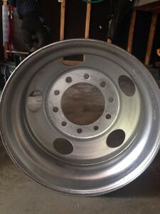 Polished steel big rig rim