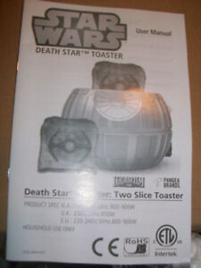 "Star Wars ""Death Star"" 2 Slice toaster - New"