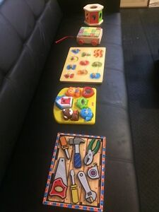 Puzzles, Alphabet Blocks and Shape Sorter Peterborough Peterborough Area image 1