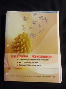 Organic Chemistry used binder edition Univ textbook/Solomons+