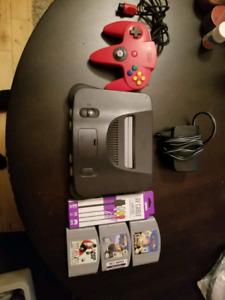 Nintendo 64 N64 with original controller/3 games