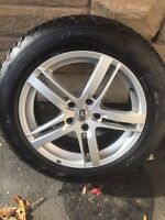 225-60-18 winter tires and alloy rims 5x120