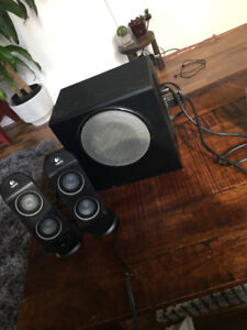 Logitec speakers and subwoofer