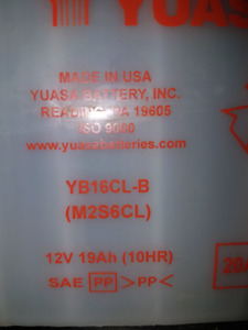 Brand new battery YB16CL -8 New battery bought but didn't fit. N