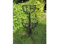 Two tier standing basket