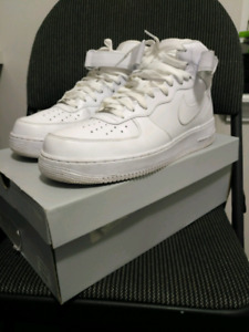 Size 13 All white Nike Air Force one mid