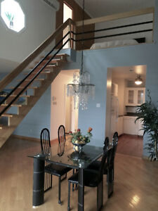 Appart-hotel, tout inclus, meublé, garage interieur,Centre-ville