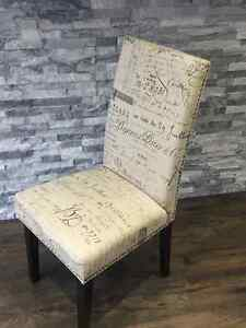 4 French Script Dining Chairs