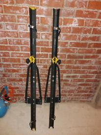 Halfords / Cruz Roof Mounted Cycle Racks (pair of) in black