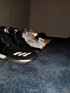 Size 7, 7.5 and 8 Adidas and Nike shoes
