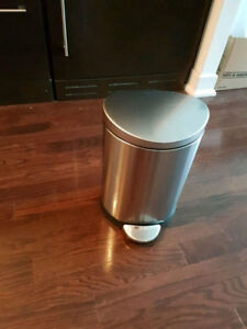 Stainless steel wastebasket garbage can from Simple Human