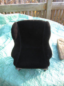 velvet chair black for american girl dolls