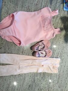 Kids Ballet clothing - size 4-6-Body Suit, shoes and tights