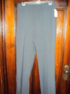 woman's dark grey (12) & mantles black linen dress pants 31 in