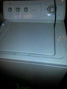 Top load washer/dryer set