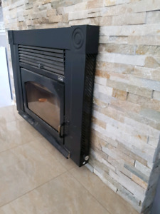 Supreme volcano wood fireplace insert