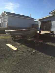 14ft alum boat and trailer