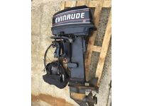 Evinrude 20hp longshaft electric start with controls