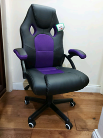 Brand new Gaming/Computer Chair Black/Purple
