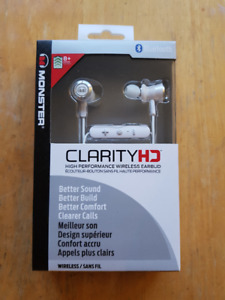 Monster Clarity HD High Performance Bluetooth Wireless Earbud
