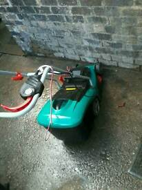electric lawn mower with grass box