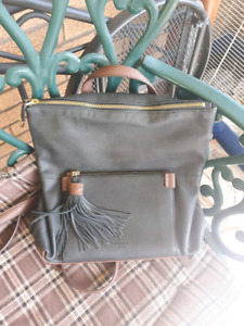 Gorgeous supple leather Perlina black and brown backpack!