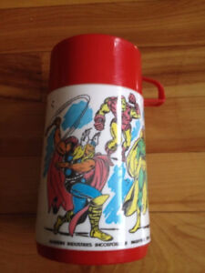 1976 Marvel Comics Super Heroes Aladdin Thermo Mug Hulk,Iron Man