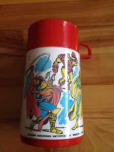 1976 Marvel Comics Super Heroes Aladdin Thermo Mug Hulk,Iron Man