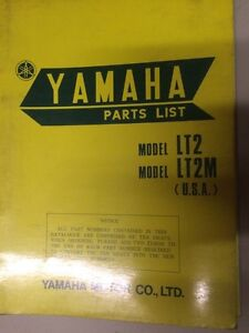 1972 Yamaha LT2 LT2M Parts List USA