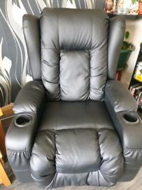 Black feux electric recliner