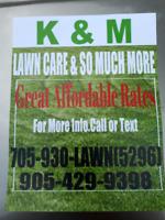 K & M Lawn Care > Peterborough