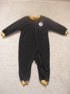 Pittsburgh Steelers Fleece Toddler Sleeper  Great Condition  Smo