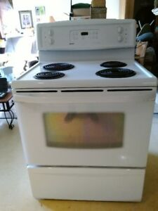 Electric Range Self Cleaning White