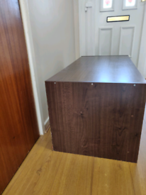TV table with storage shelves