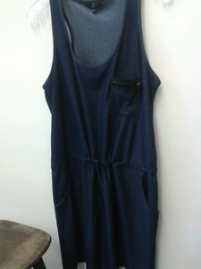 Jean look comfy stretch material dress