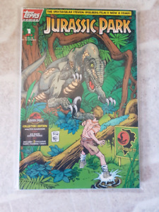 Jurassic Park Comics with Collector cards