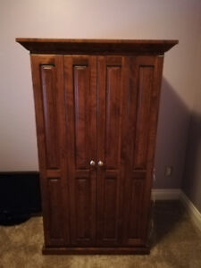 Solid Wood TV Armoire For Sale
