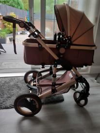 Rose gold pram / pushchair