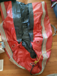 12 foot classic red Zodiac for parts or repair $40 OBO