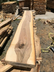 Live edge hardwood slabs and lumber